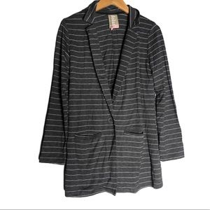 Dolan Left Coast Striped Long Blazer